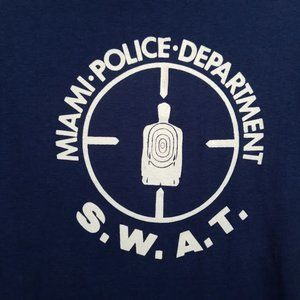 Miami Police Department S.W.A.T. T Shirt Sz Large